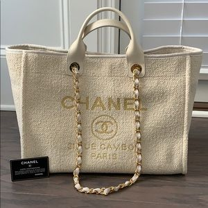 Chanel Deauville large size in cream